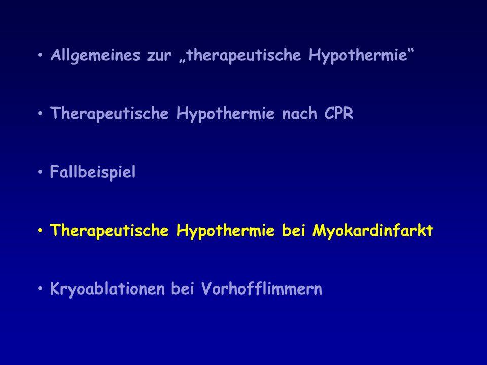 """Allgemeines zur """"therapeutische Hypothermie"""