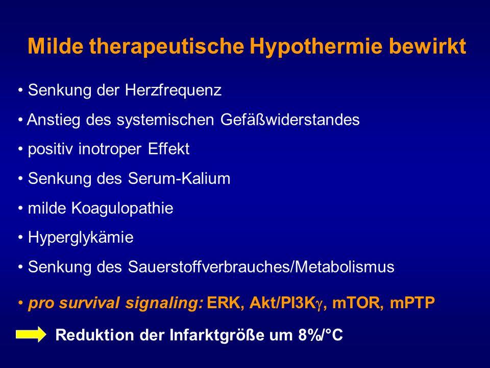 Milde therapeutische Hypothermie bewirkt