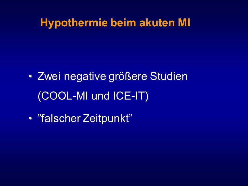Hypothermie beim akuten MI