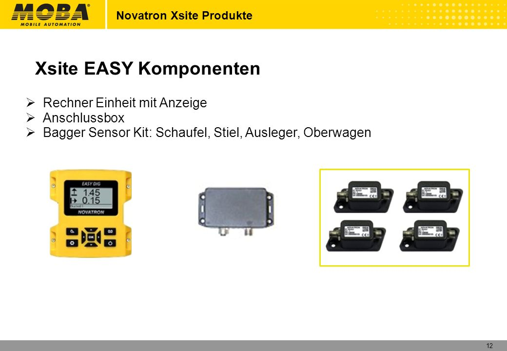 Xsite EASY Komponenten