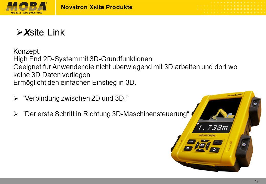 Xsite Link Konzept: High End 2D-System mit 3D-Grundfunktionen.