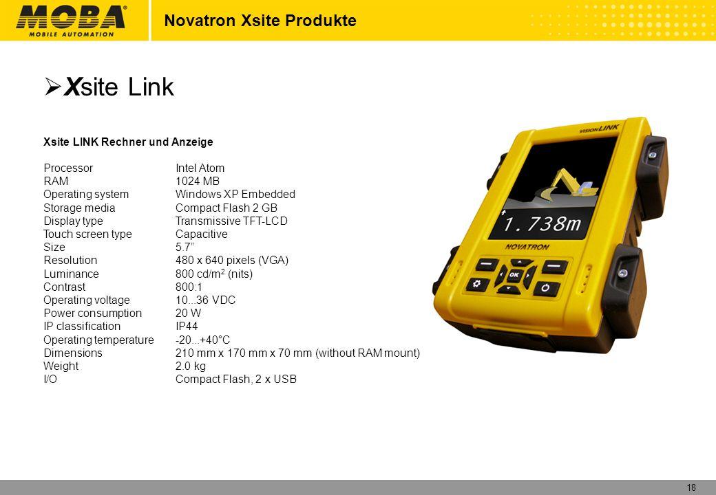 Xsite Link Novatron Xsite Produkte Xsite LINK Rechner und Anzeige