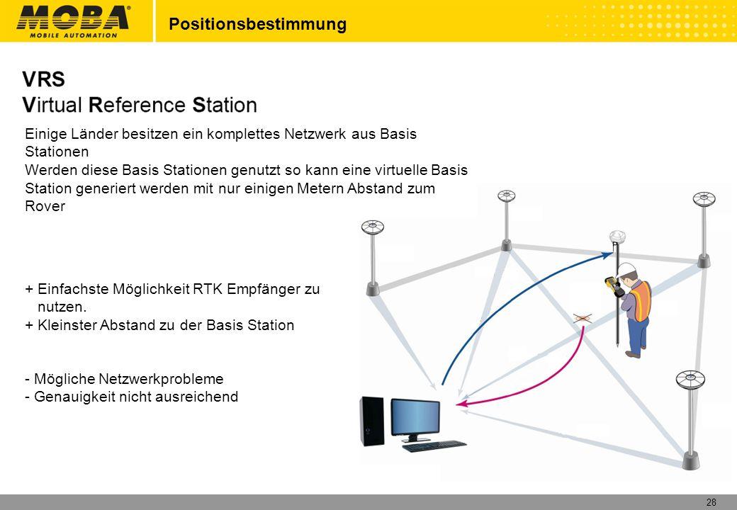 Positionsbestimmung Einige Länder besitzen ein komplettes Netzwerk aus Basis Stationen.