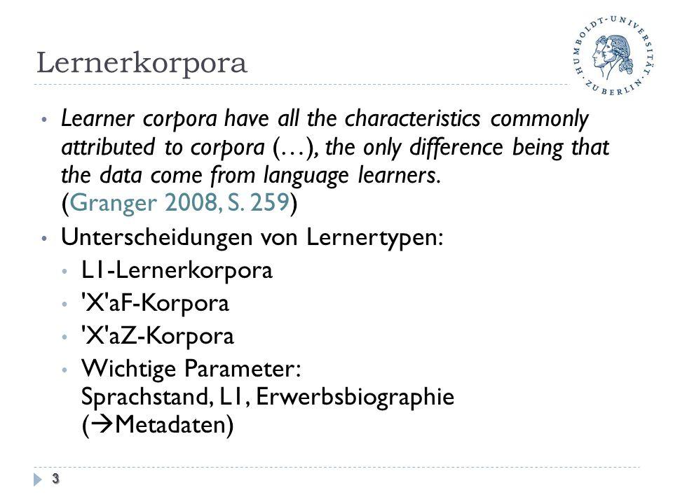 Lernerkorpora