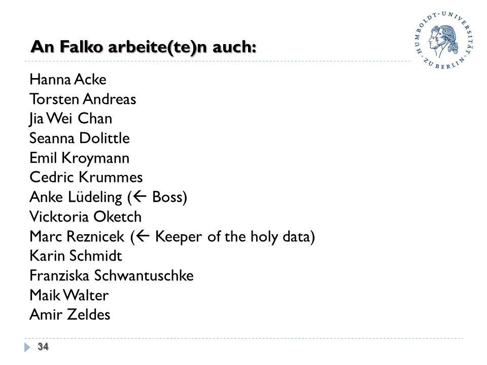 An Falko arbeite(te)n auch: