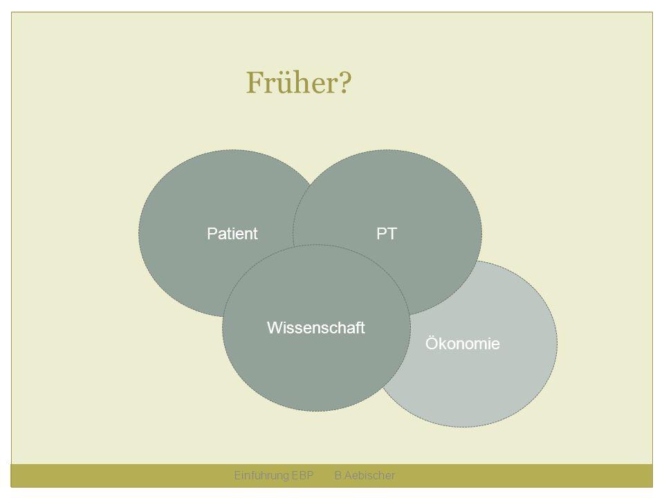 Früher Patient PT Wissenschaft Ökonomie Einführung EBP B.Aebischer