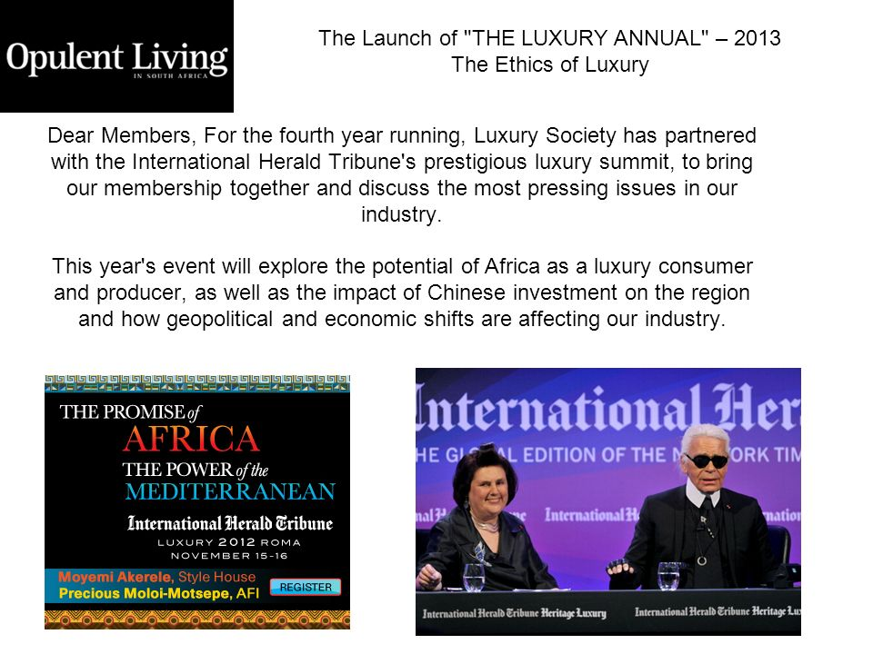 The Launch of THE LUXURY ANNUAL – 2013
