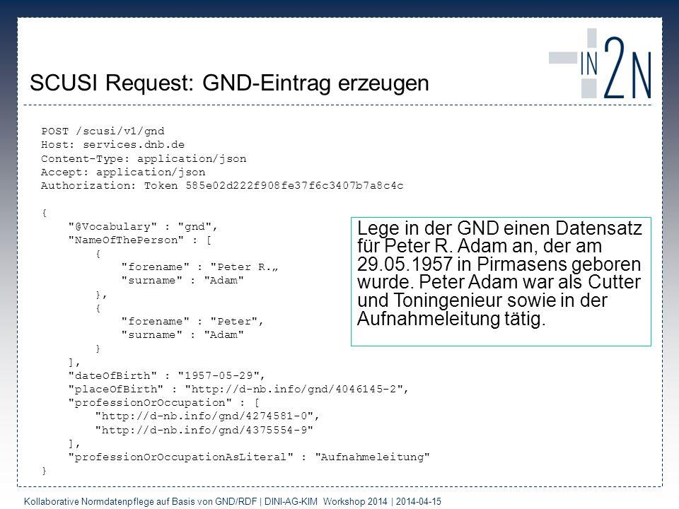 SCUSI Request: GND-Eintrag erzeugen