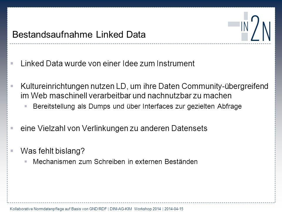 Bestandsaufnahme Linked Data