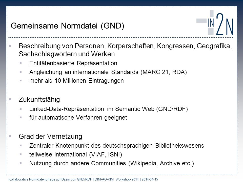 Gemeinsame Normdatei (GND)