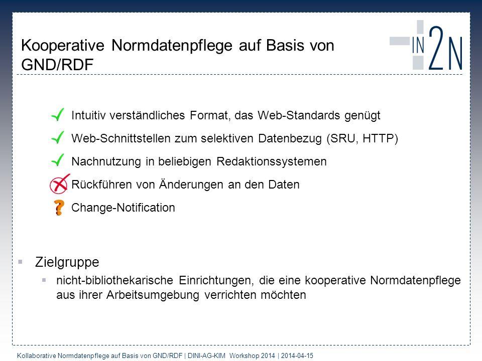 Kooperative Normdatenpflege auf Basis von GND/RDF