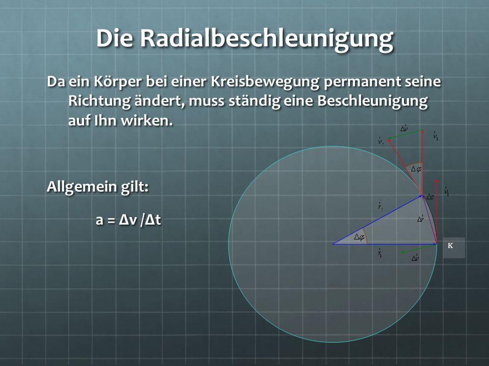 Die Radialbeschleunigung