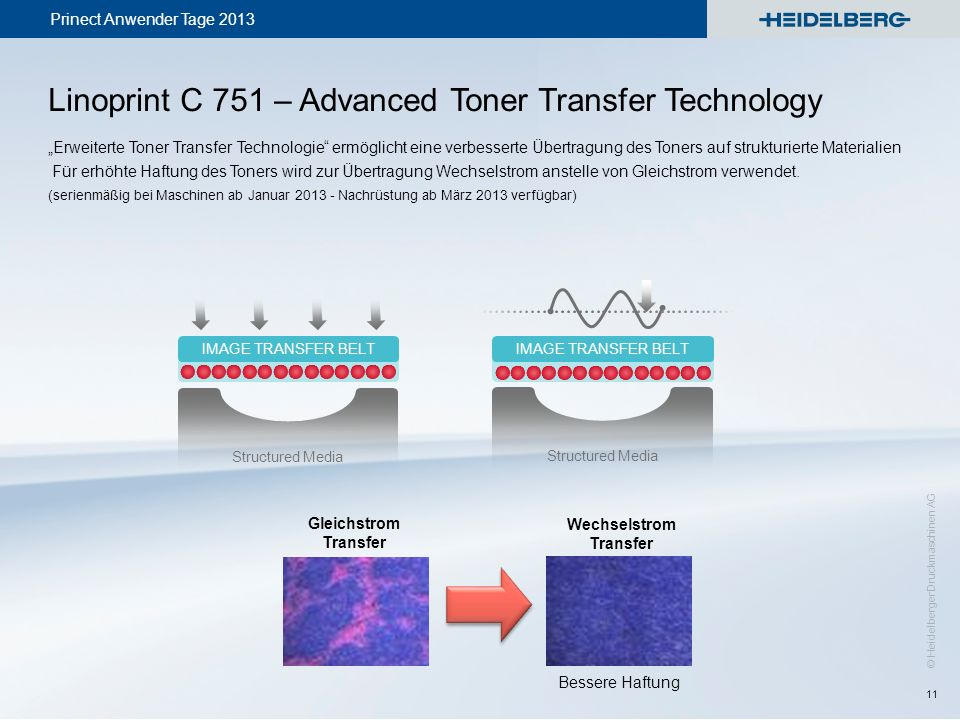 Linoprint C 751 – Advanced Toner Transfer Technology