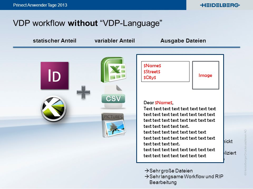 VDP workflow without VDP-Language