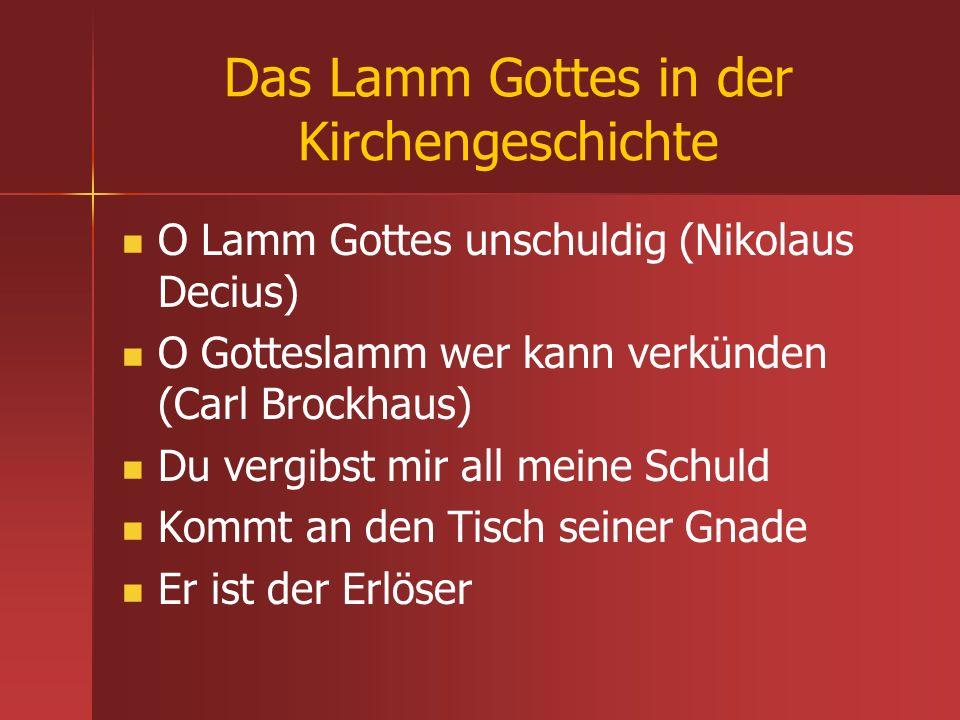 Das Lamm Gottes in der Kirchengeschichte