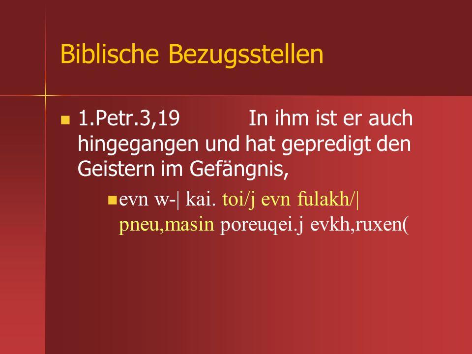 Biblische Bezugsstellen