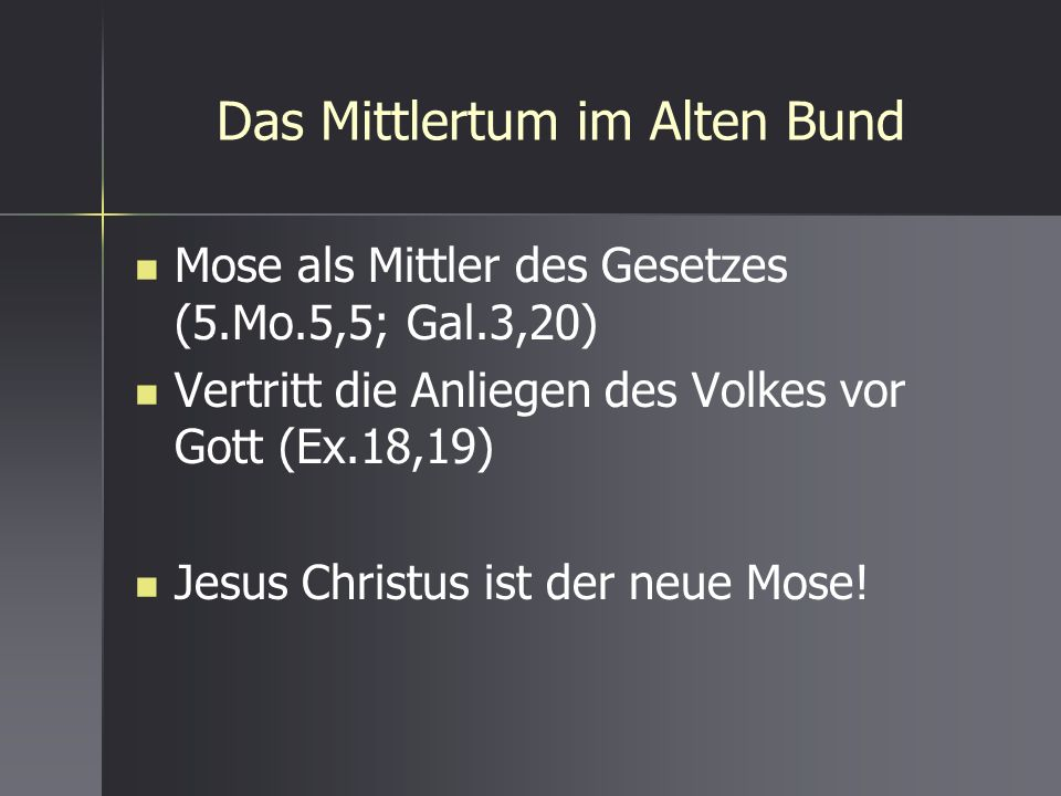 Das Mittlertum im Alten Bund