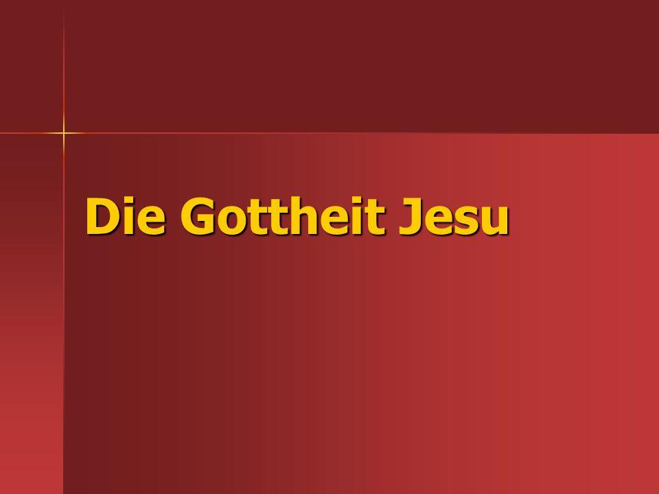 Die Gottheit Jesu