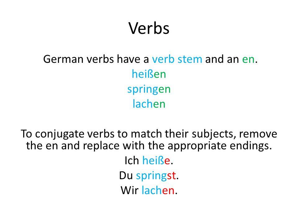 Verbs