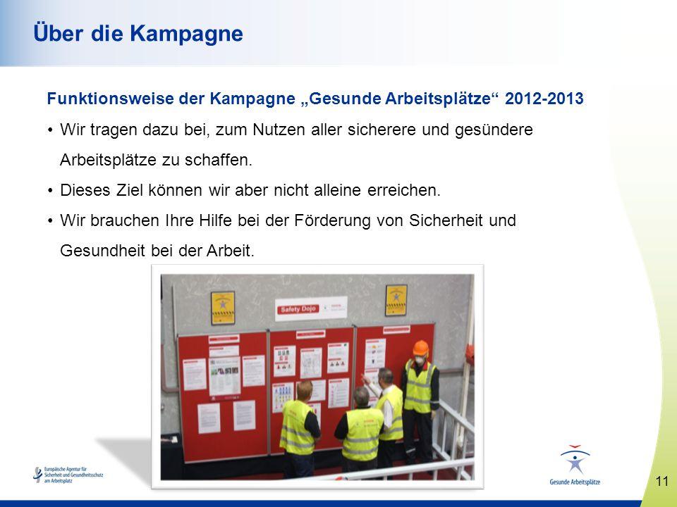 """Über die Kampagne Funktionsweise der Kampagne """"Gesunde Arbeitsplätze 2012-2013."""
