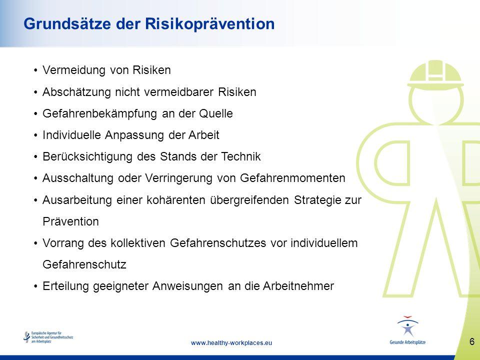 Grundsätze der Risikoprävention