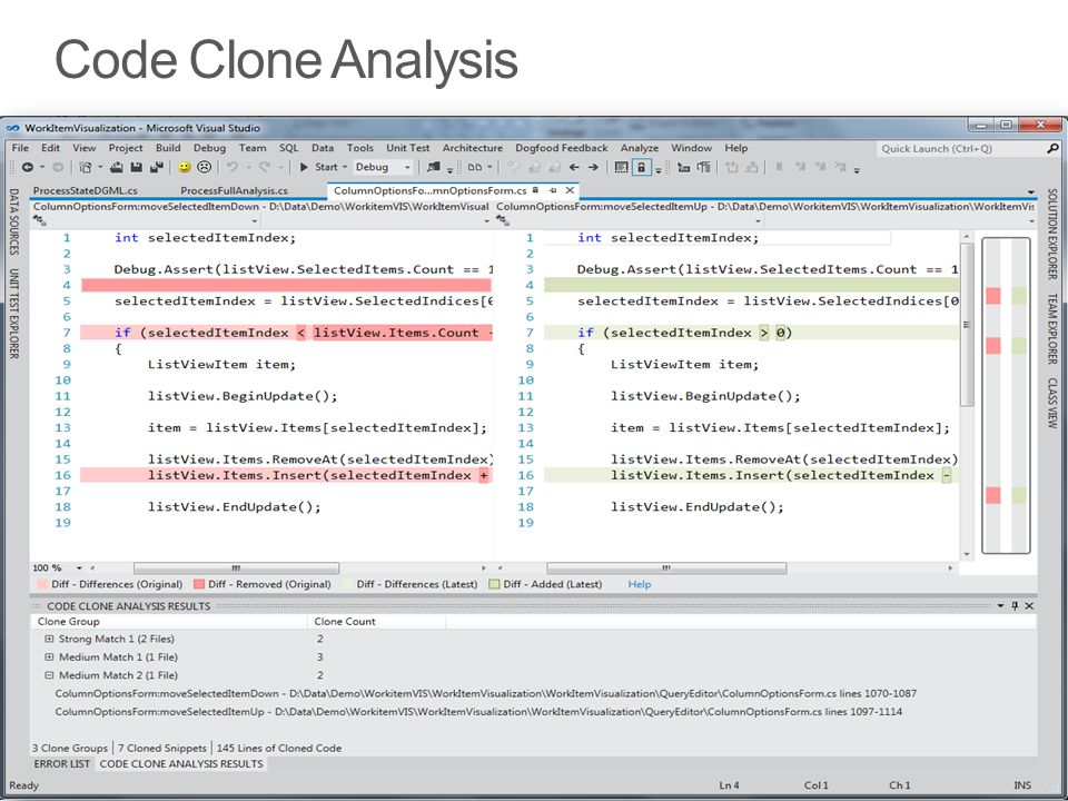 Code Clone Analysis Note Unit Testing in this Context, as this is very important for fearless Refactoring 