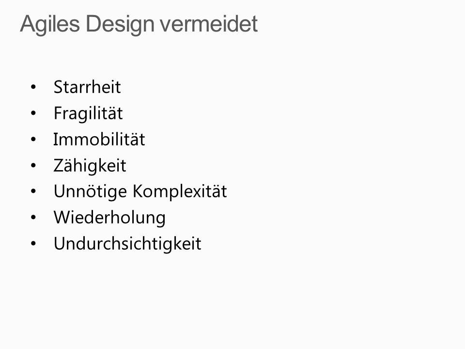 Agiles Design vermeidet