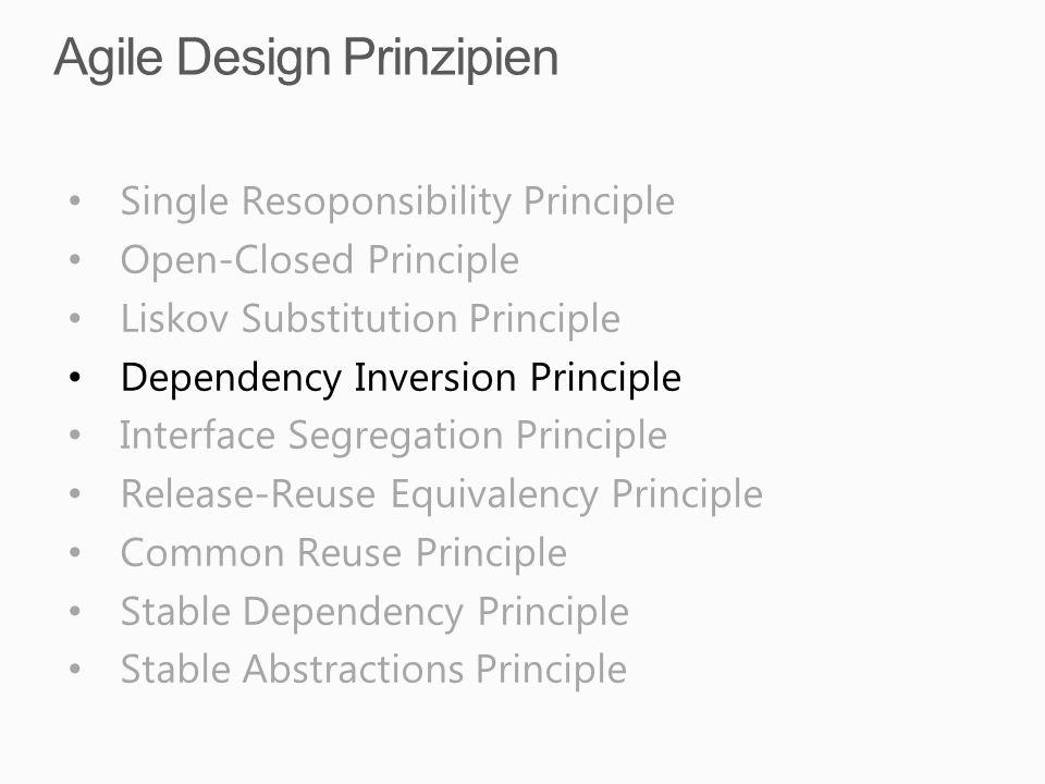 Agile Design Prinzipien