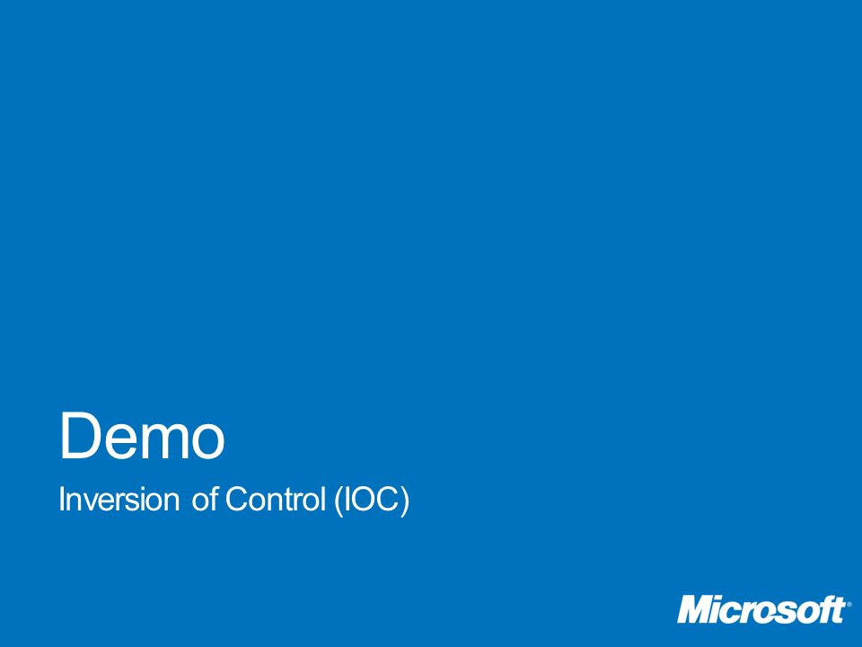Demo Inversion of Control (IOC)