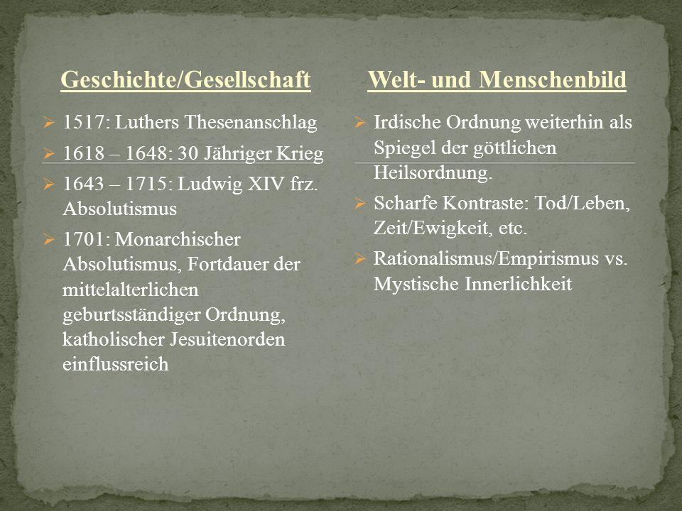 Geschichte/Gesellschaft Welt- und Menschenbild