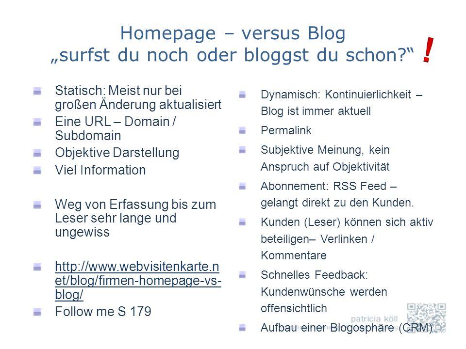 """Homepage – versus Blog """"surfst du noch oder bloggst du schon"""