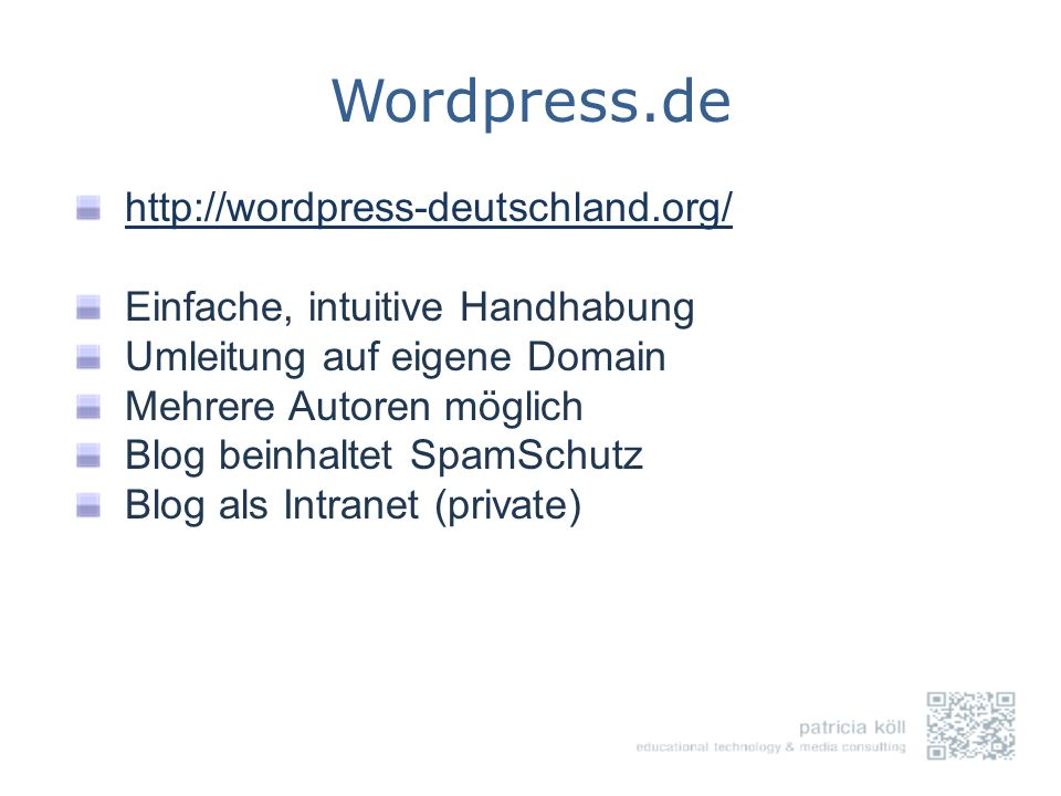 Wordpress.de http://wordpress-deutschland.org/