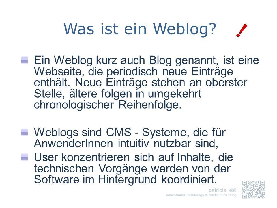 Was ist ein Weblog !
