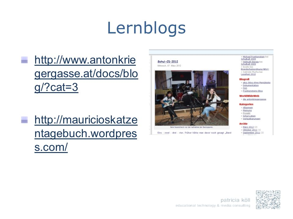Lernblogs http://www.antonkriegergasse.at/docs/blog/ cat=3