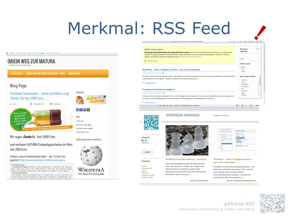 Merkmal: RSS Feed !