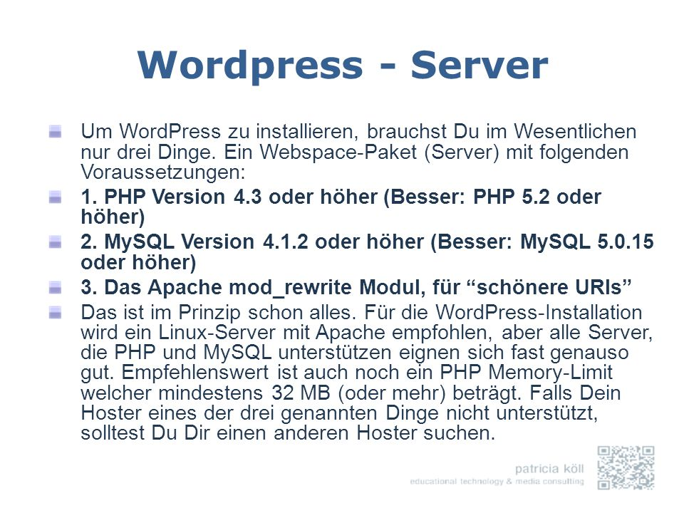 Wordpress - Server