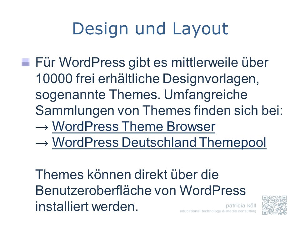 Design und Layout