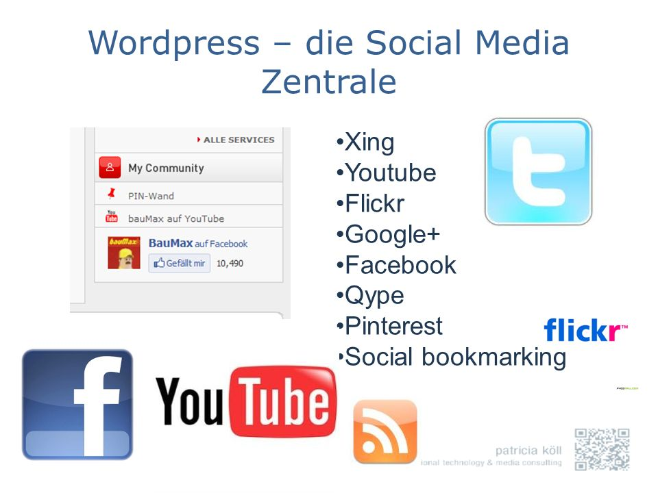 Wordpress – die Social Media Zentrale