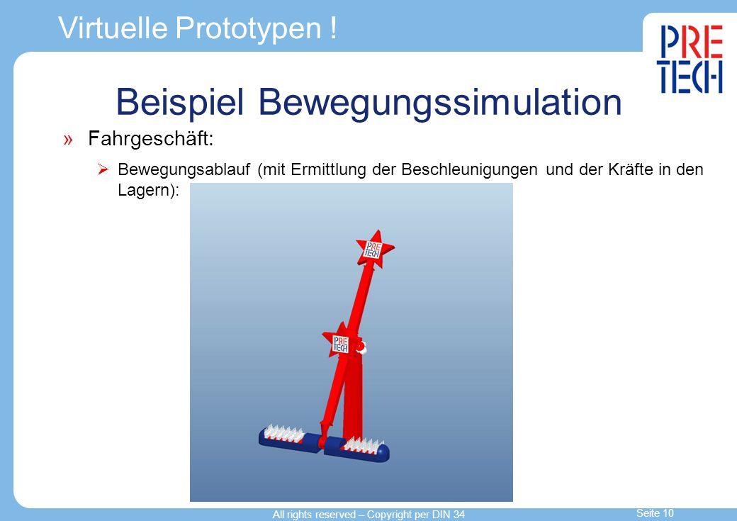 Beispiel Bewegungssimulation