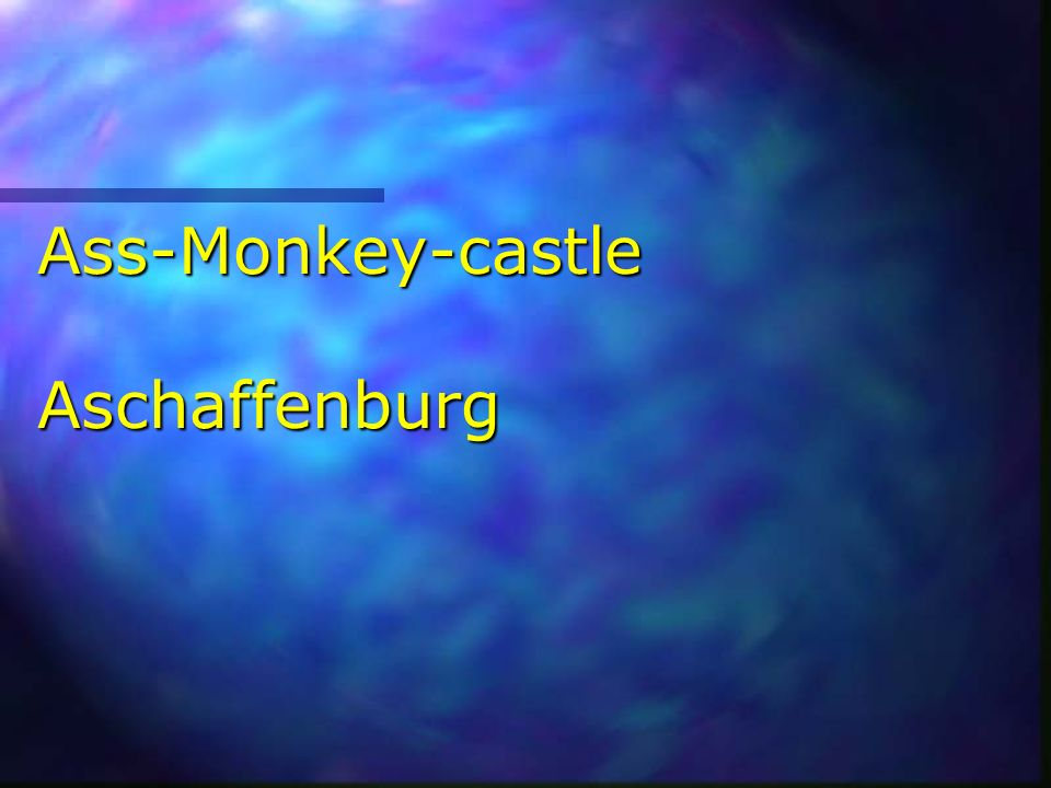 Ass-Monkey-castle Aschaffenburg
