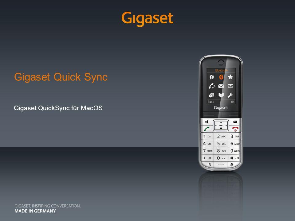 Gigaset QuickSync für MacOS