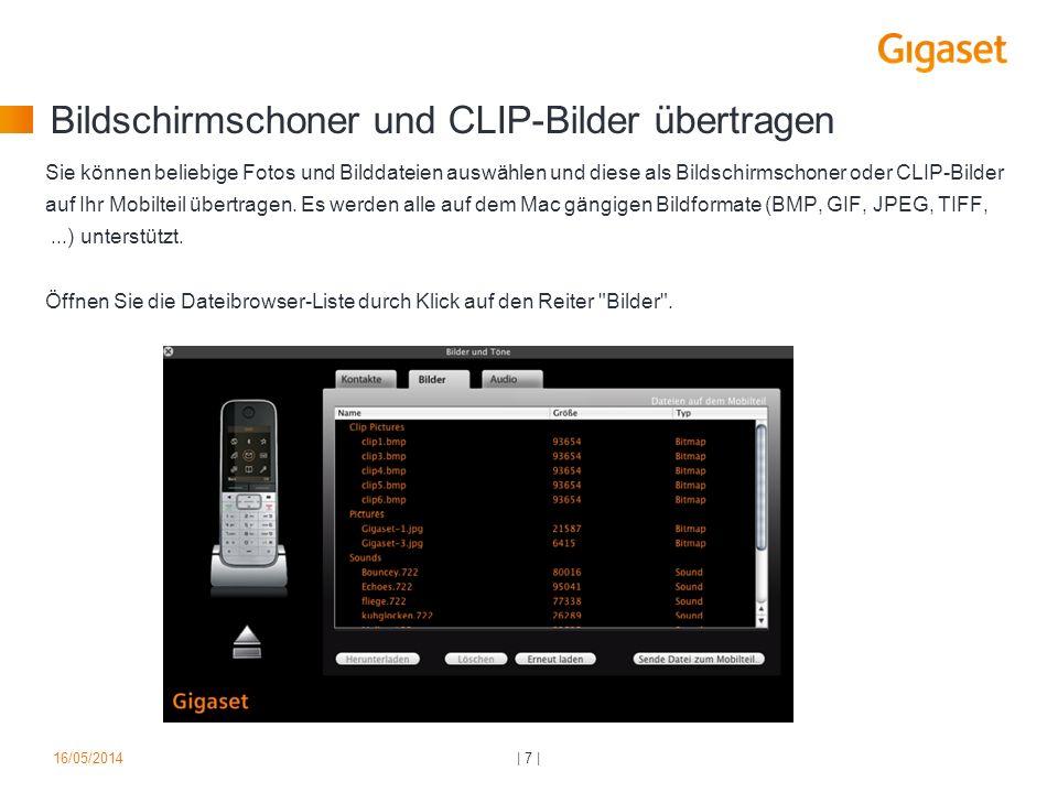 Bildschirmschoner und CLIP-Bilder übertragen