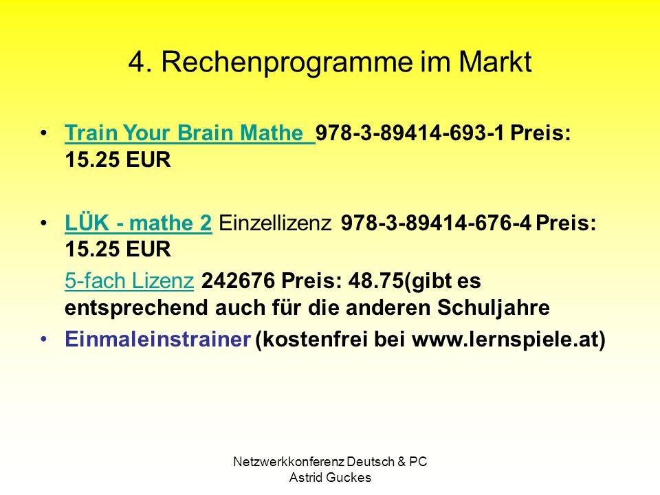 4. Rechenprogramme im Markt