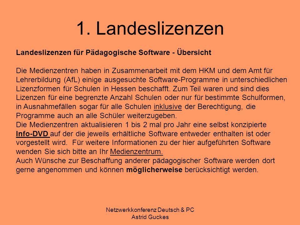 Netzwerkkonferenz Deutsch & PC Astrid Guckes