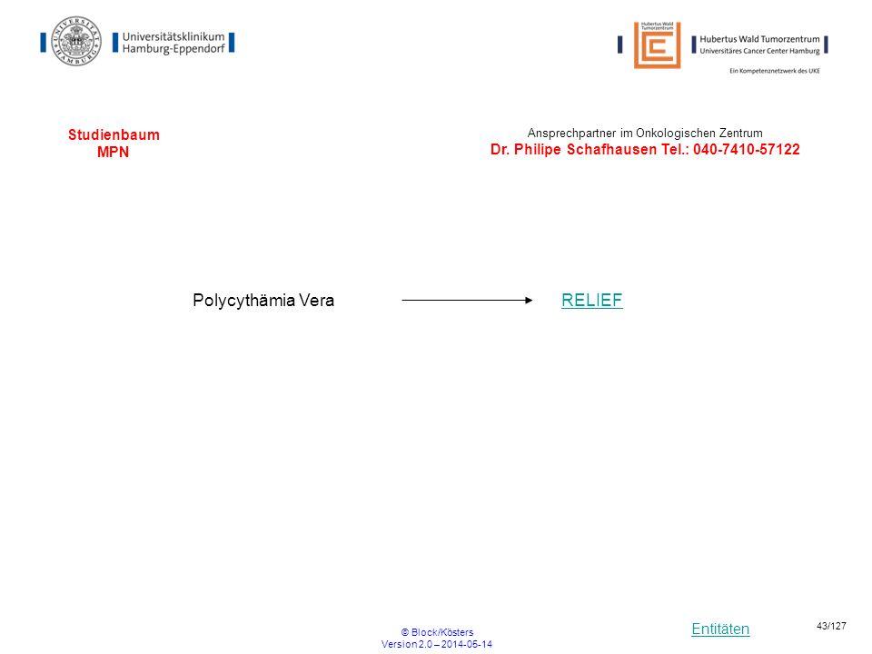 Polycythämia Vera RELIEF Studienbaum MPN