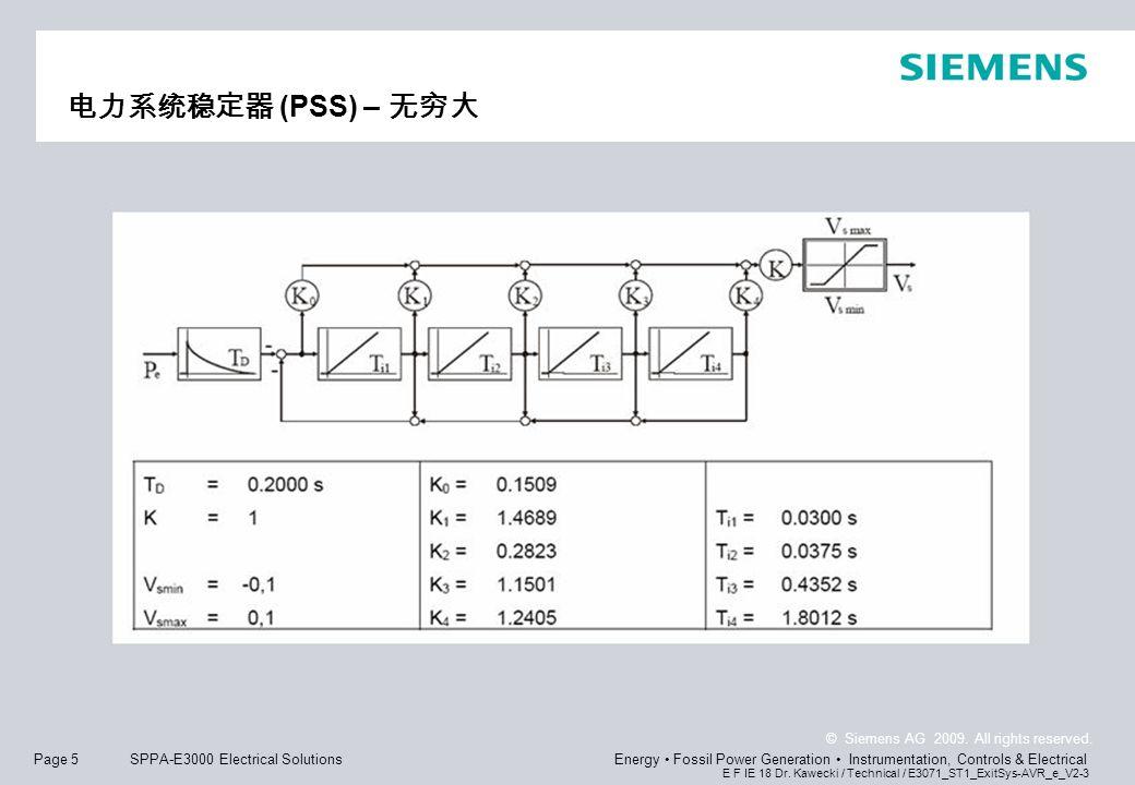电力系统稳定器 (PSS) – 无穷大