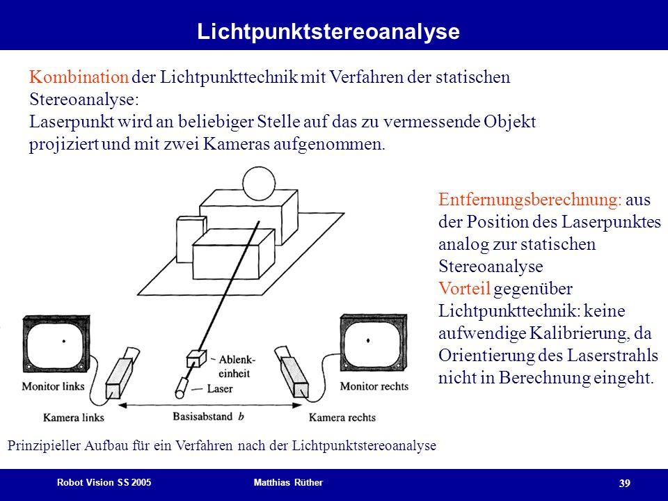 Lichtpunktstereoanalyse