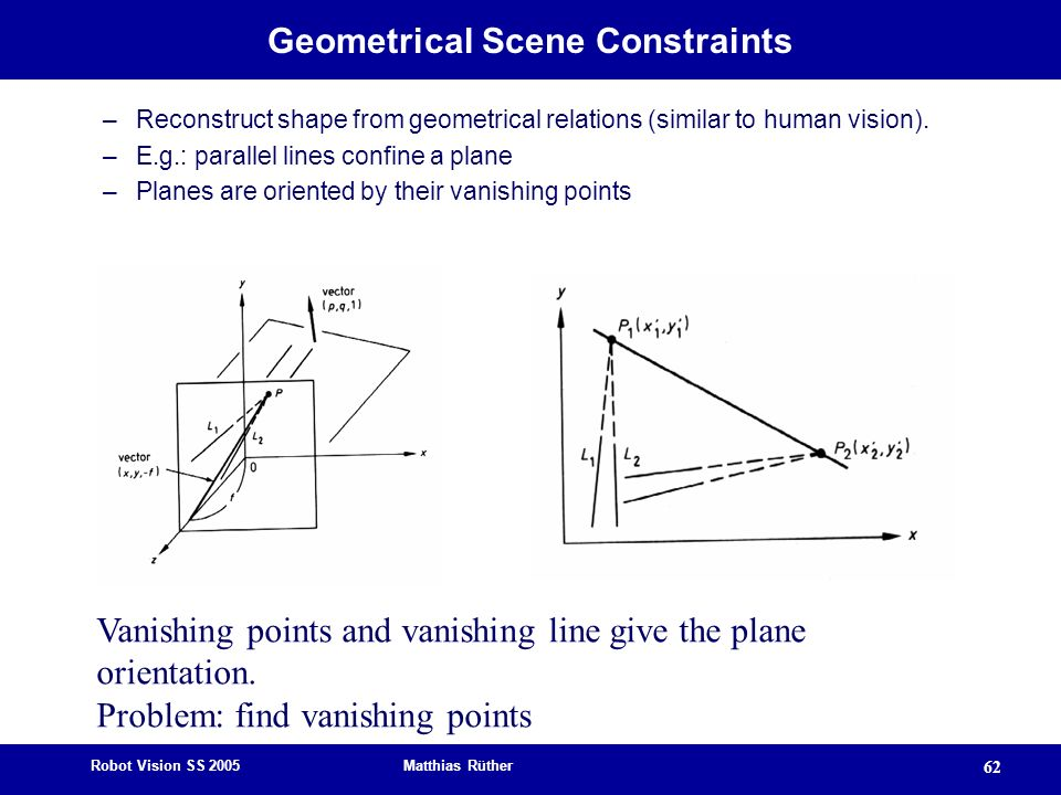 Geometrical Scene Constraints