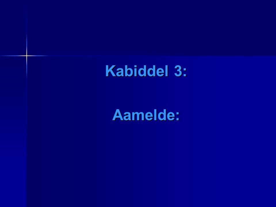 Kabiddel 3: Aamelde: