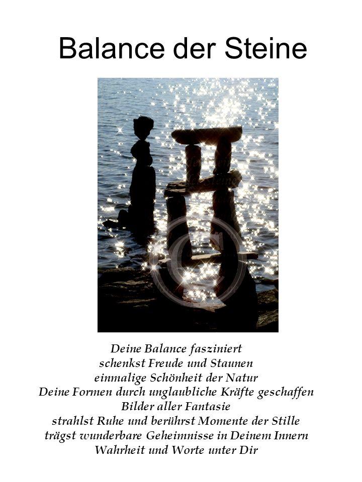 Balance der Steine Deine Balance fasziniert